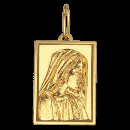 Золотая ладанка прямоугольной формы 6066