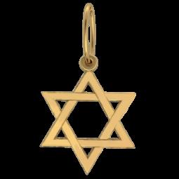 Золотой кулон Звезда Давида 6076