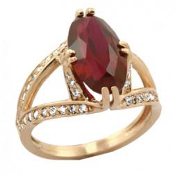 Женское золотое кольцо с большим овальным камнем 100610