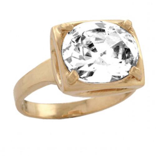 Золотое кольцо с крупным овалом 100620