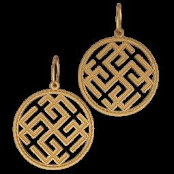Золотой подвес с геометрическими фигурами 6092