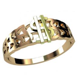 Золотое кольцо доллар 1246