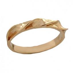 Женское золотое кольцо без камней 100680