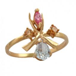 Женское золотое кольцо 100720