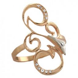 Золотое ажурное женское кольцо 100810