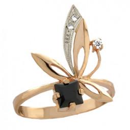 Женское кольцо с маленьким квадратным камнем 100830