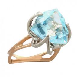 Женское кольцо с крупным треугольным камнем 100840