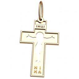Золотой крест прямоугольной формы 5039