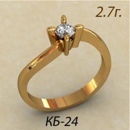 Помолвочное золотое кольцо кб-440024