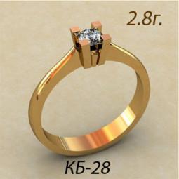 Кольцо для помолвки с фианитом кб-730028