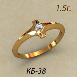 Кольцо помолвочное из красного золота кб-390038