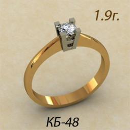 Небольшое помолвочное золотое кольцо кб-190048