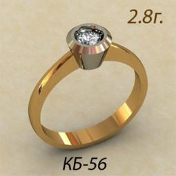 Необычное кольцо для помолвки кб-540056