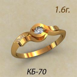 Оригинальное женское колечко из красного золота кб-390070