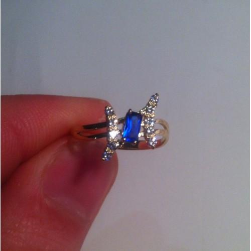 Маленькое недорогое женское колечко с прямоугольным камнем 2318