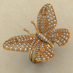 Женское кольцо в виде бабочки 351