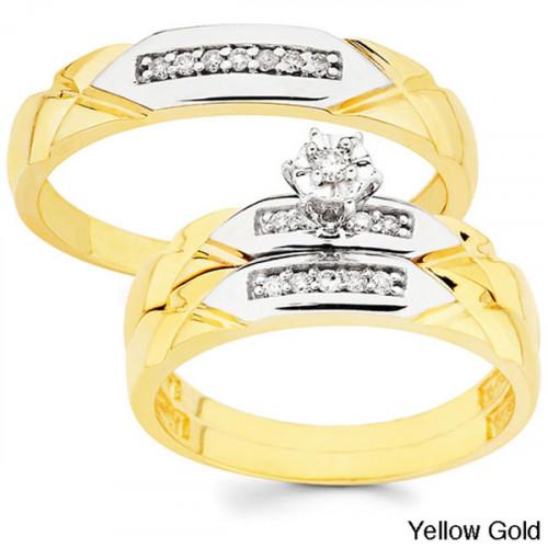 Набор эксклюзивных золотых обручальных колец AU4339509