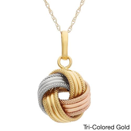 Золотая женская подвеска Love Knot 120041