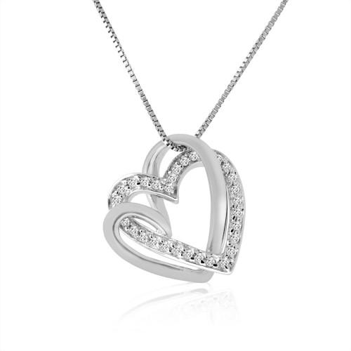 Женская золотая подвеска с камнями Heartbeat 120078