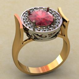 Массивное женское кольцо 454