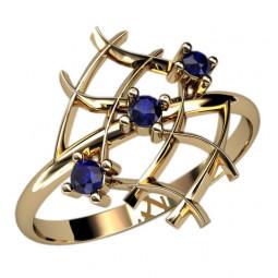 Недорогое маленькое золотое кольцо сеточка 2387