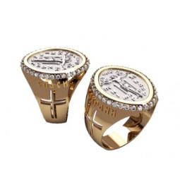 Мужской перстень из комбинированного золота 3184