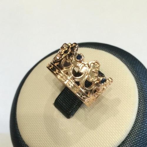 Массивное золотое кольцо в форме короны 2501
