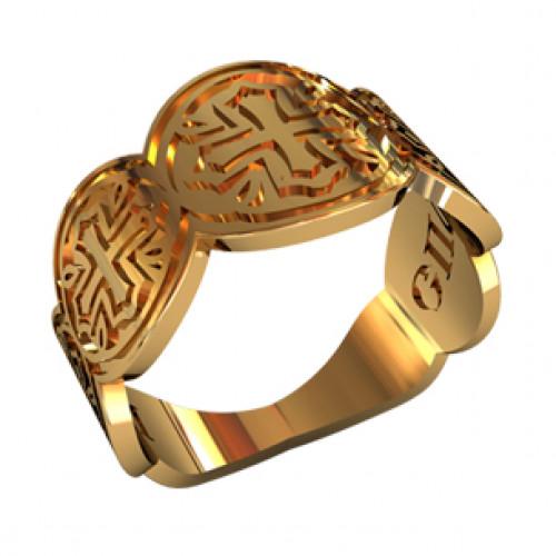Женское охранное кольцо из красного золота 21039270