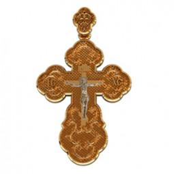 Золотой крест с распятием 410150