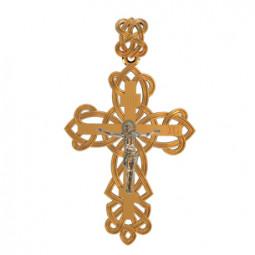 Золотой декоративный крест с распятием 410160