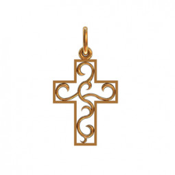 Декоративный крест без камней с узором 410290