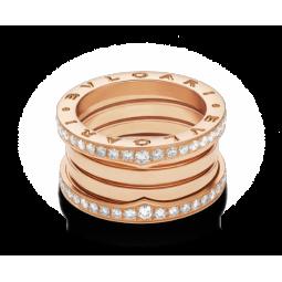 Золотое кольцо реплика Bvlgari B-zero Ring red