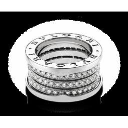 Женское золотое кольцо в стиле Bvlgari B-zero Ring