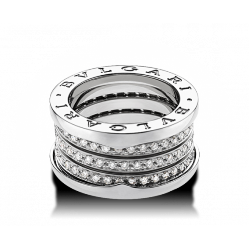Золотое кольцо с камнями реплика Bvlgari b.Zero Ring 054