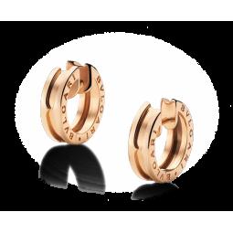 Золотые серьги без камней в стиле Bvlgari b.Zero red 109