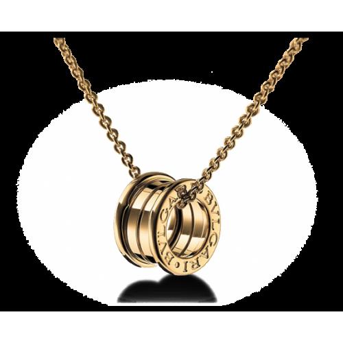 Золотой подвес в стиле Bvlgari b.Zero 130011