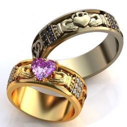 Эксклюзивные обручальные кладдахские кольца 310062
