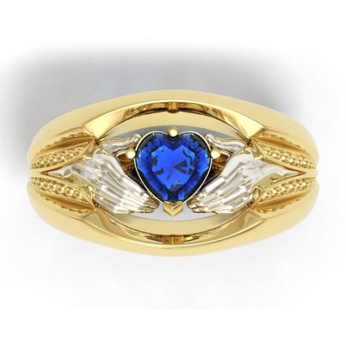 Мужское кладдахское кольцо из комбинированного золота 360081