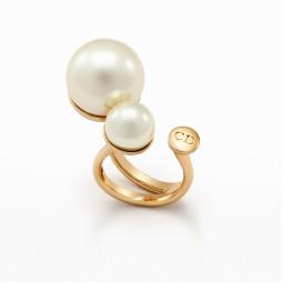 Авторское золотое женское кольцо с жемчугом в стиле Ultradior Ring 068