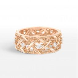 Женское золотое кольцо в стиле My Dior Ring Medium Model 065