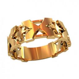 Мужское золотое кольцо без камней 750040