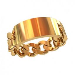 Мужское золотое кольцо в форме цепи без камней 750020