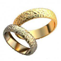 Обручальные кольца с неровной поверхностью без камней AU00160
