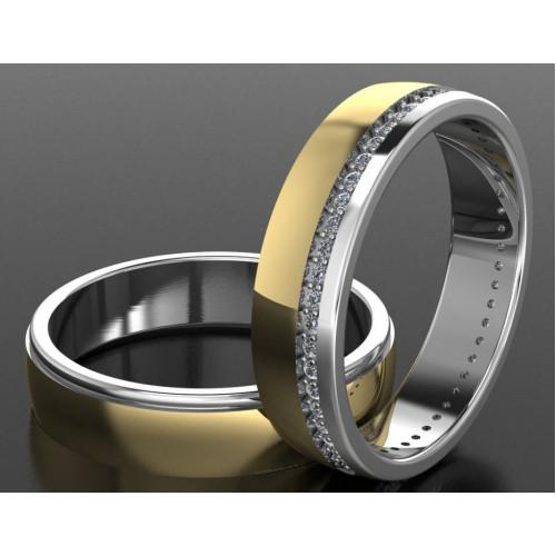 Авторские обручальные кольца с вариантами матовой и ровной поверхности AU2164075