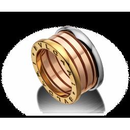 Авторское кольцо из комбинированного золота Bvlgari b-Zero 055